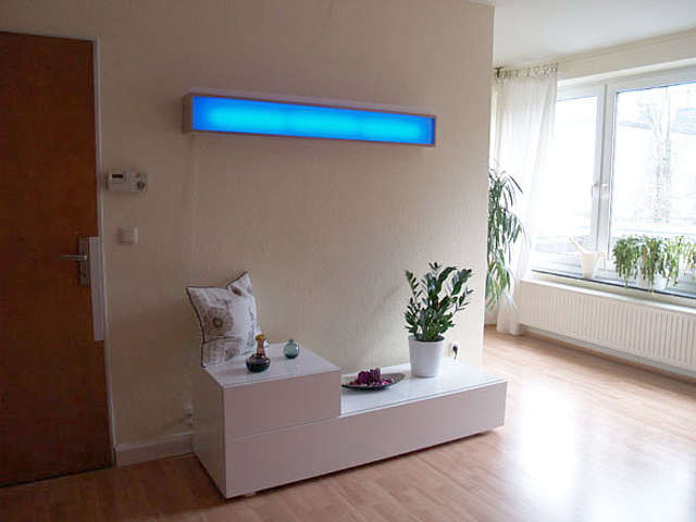 Coole LED-Wandleuchte