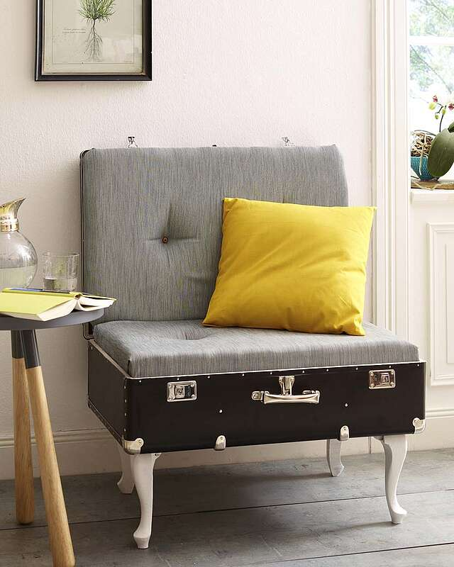 Upcycling Koffer Sessel
