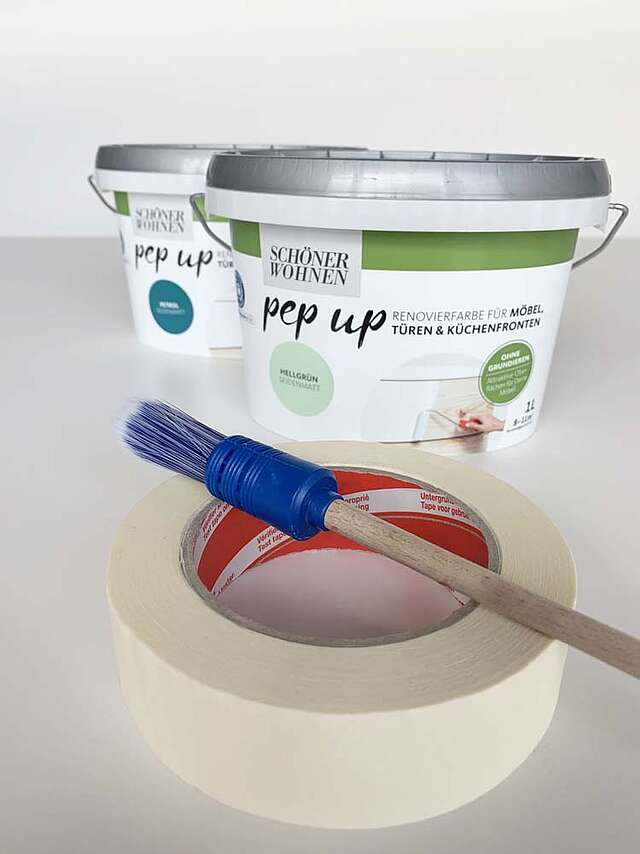 Dip Dye Paint Dipping pep up Farbe Pinsel Kreppband