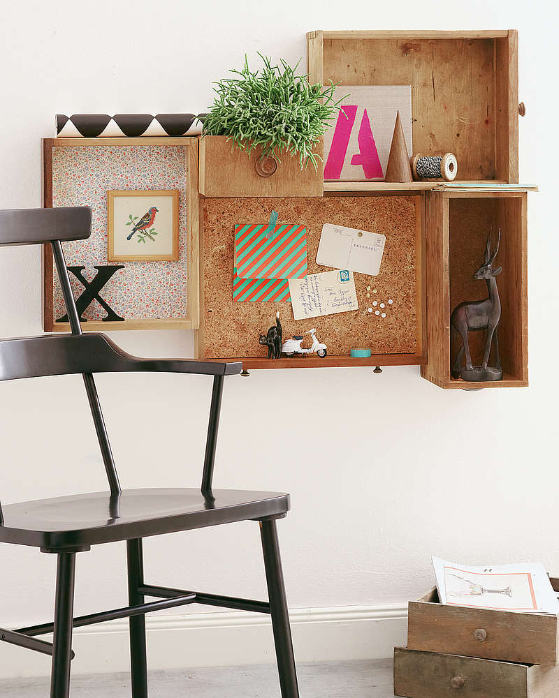 upcycling idee schubladen als wanregal diy academy. Black Bedroom Furniture Sets. Home Design Ideas