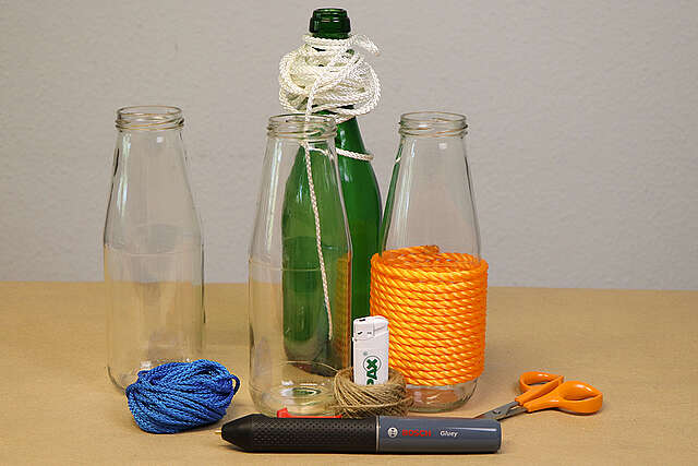 Glasflaschen-Upcycling