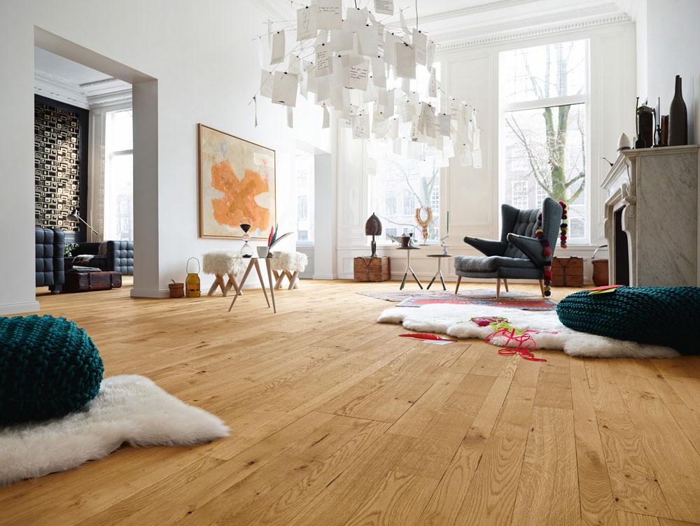 Massivholzdielen ein boden f rs leben - Teppichboden wohnzimmer ...