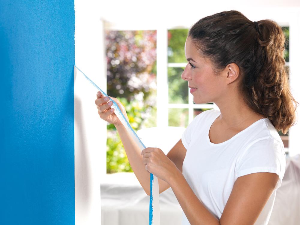 saubere farbkanten beim streichen diy academy. Black Bedroom Furniture Sets. Home Design Ideas