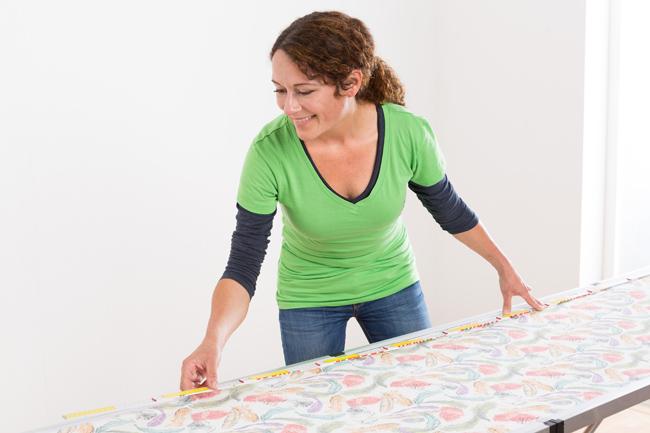 Vliestapeten Decke Tapezieren : Lot anzeichnen L?nge ausmessen Tapete zuschneiden