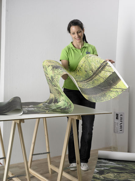 fototapete tapezieren. Black Bedroom Furniture Sets. Home Design Ideas