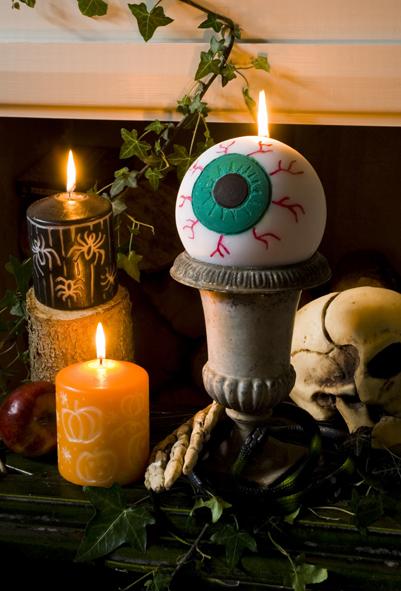gruselige halloween kerzen basteln. Black Bedroom Furniture Sets. Home Design Ideas