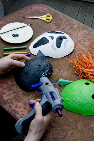 halloween maske selber machen. Black Bedroom Furniture Sets. Home Design Ideas