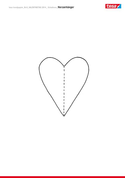 Herzanhänger basteln