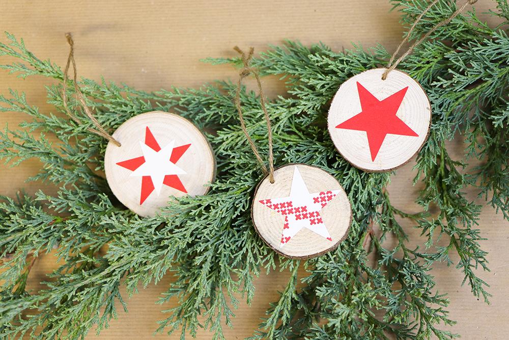 Gebastelte Weihnachtsdeko.Weihnachtsdeko Aus Baumscheiben Diy Academy