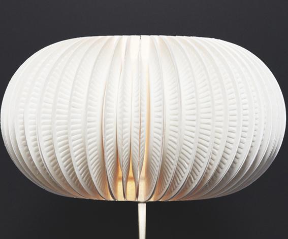 Lampe aus Papptellern