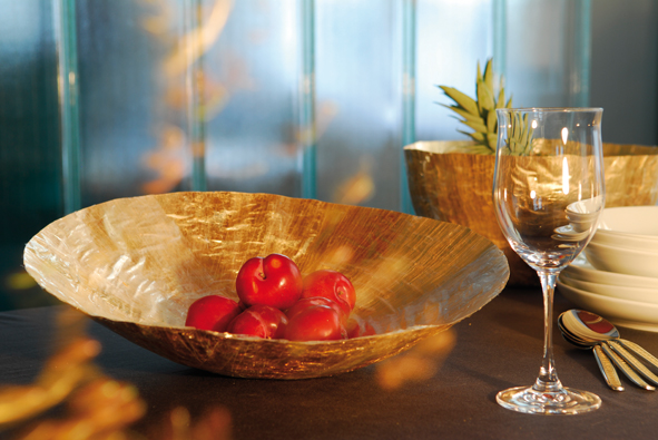 goldene deko gl ser schalen und sets vergolden. Black Bedroom Furniture Sets. Home Design Ideas