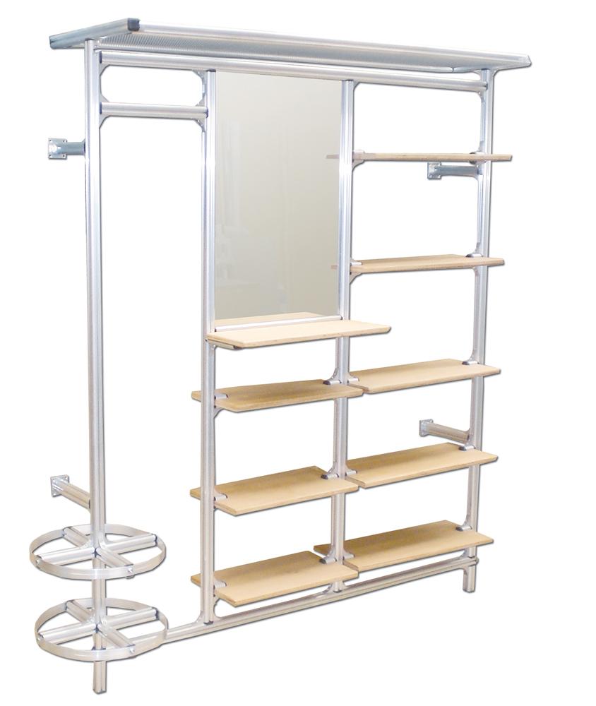 m bel aus aluprofilen. Black Bedroom Furniture Sets. Home Design Ideas