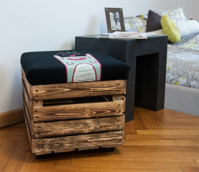 upcycling hocker selber bauen diy academy. Black Bedroom Furniture Sets. Home Design Ideas