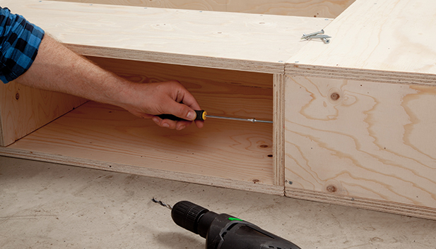Stauraum bett selber bauen - Podestbett bauen ...