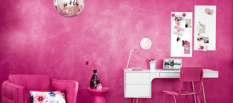gl nzende w nde in glimmer optik. Black Bedroom Furniture Sets. Home Design Ideas