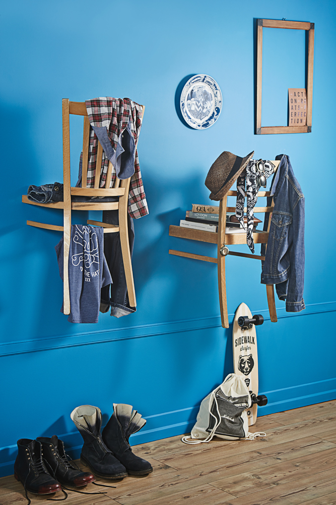 Upcycling: Alte Stühle werden zur Garderobe | DIY Academy