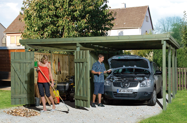 carport offener stellplatz f r das auto. Black Bedroom Furniture Sets. Home Design Ideas