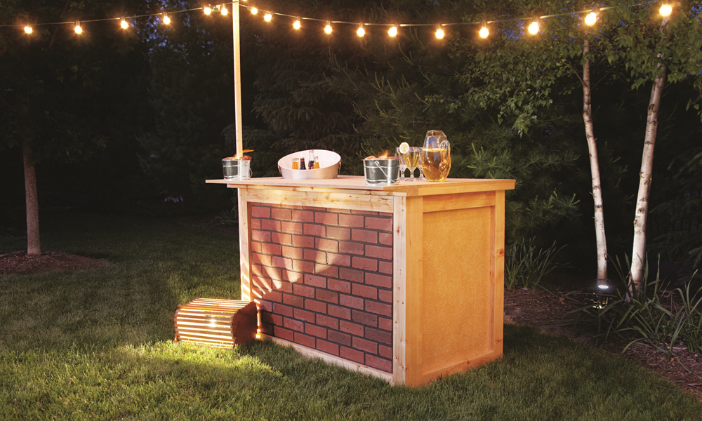 Bau dir eine outdoork che for Construire un bar exterieur en bois