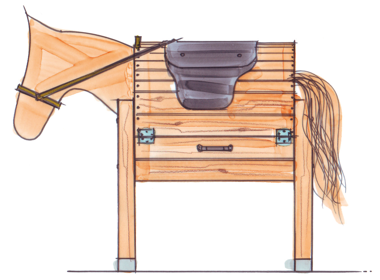 pferd aus holz selbst bauen. Black Bedroom Furniture Sets. Home Design Ideas
