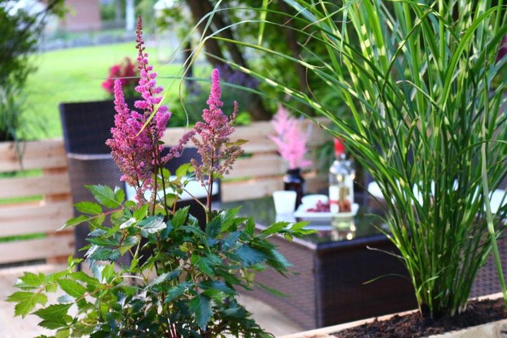 terrasse aus paletten mit dach diy academy. Black Bedroom Furniture Sets. Home Design Ideas