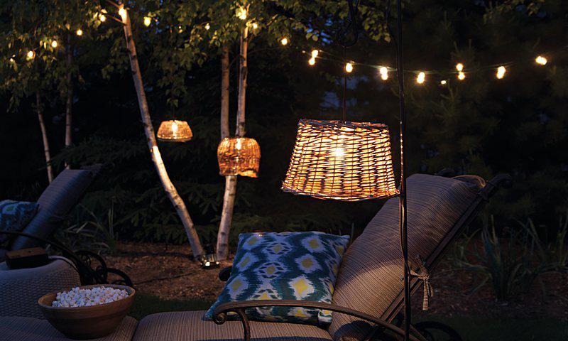 lampen aus k rben. Black Bedroom Furniture Sets. Home Design Ideas